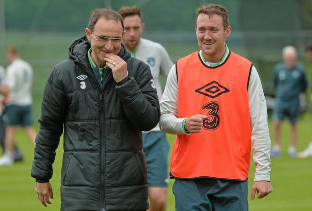 Aiden McGeady enjoys a relaxed relationship with his former Celtic boss Martin O'Neill. Photo: Piaras O Midheach / SPORTSFILE