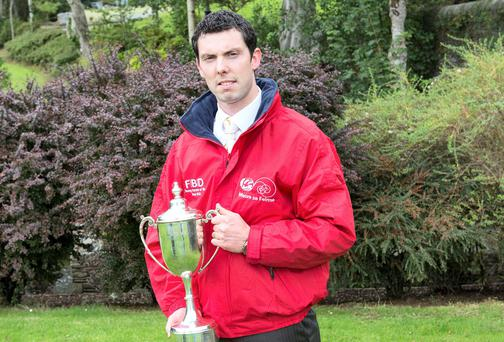Sean O' Donnell from Mayo won the title of Young Farmer of the Year