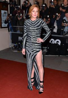 Lindsay Lohan attends the GQ Men of the Year awards