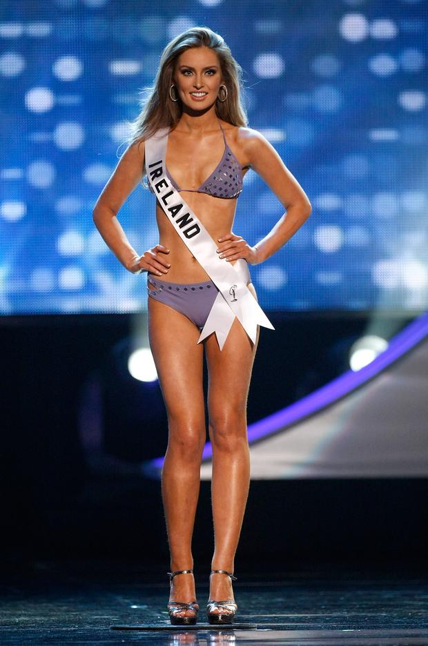 Miss Ireland 2010, Rozanna Purcell, is named a top 10 finalist during the 2010 Miss Universe Pageant at the Mandalay Bay