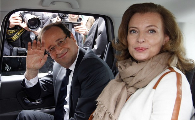 French President Francois Hollande and ex Valerie Trierweiler, who reveals suicide bid in the Elysee Palace after Gayet affair. Photo: Reuters