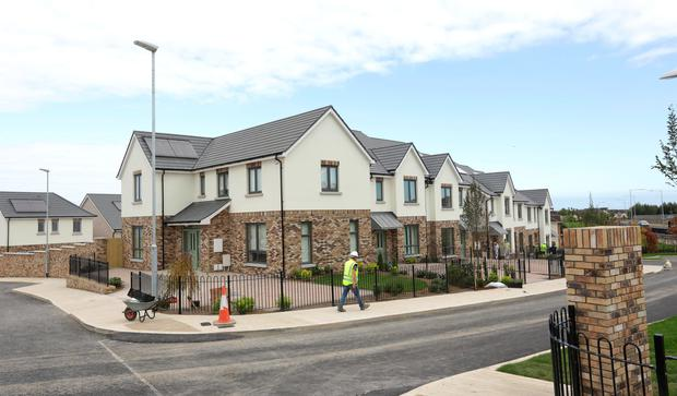 Millers Glen estate in Swords, the houses go on sale Saturday at 2pm. Photo: Damien Eagers