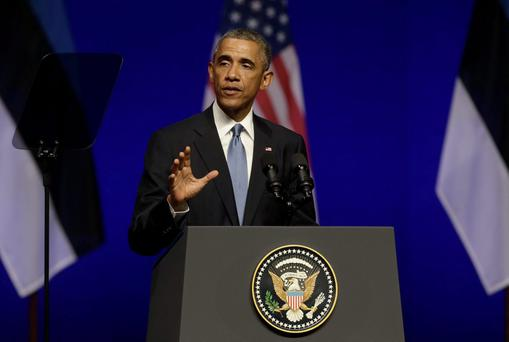 U.S. President Barack Obama has sought to reassure Baltic nations