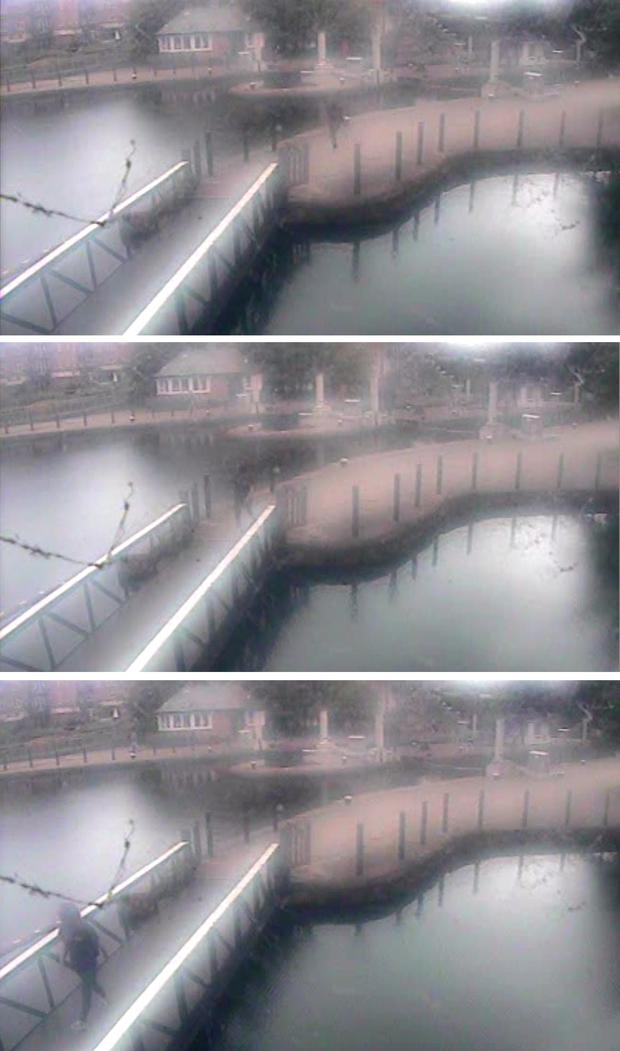 Metropolitan Police handout CCTV stills of missing girl Alice Gross, 14, walking along Grand Union Canal tow path in the vicinity of the Holiday Inn at Brentford Lock on the day of her disappearance. Credit: Metropolitan Police/PA Wire