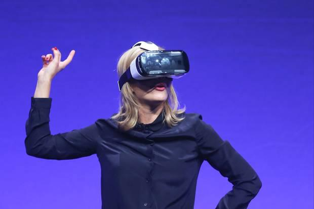 The Gear VR is powered by the Galaxy Note 4 and Galaxy Note Edge