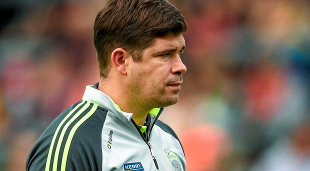 Kerry manager Eamonn Fitzmaurice (pictured) and his Donegal counterpart Jim McGuinness will go head to head. Stephen McCarthy / SPORTSFILE