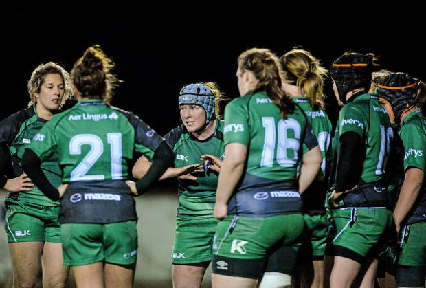 Connacht skipper Ruth O'Reilly (centre): 'We're all confident we can up the ante further'. Picture credit: Matt Browne / SPORTSFILE