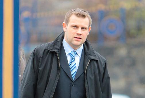 Garda Adrian Joyce (31) based at Pearse St., Dublin leaving Limerick District court