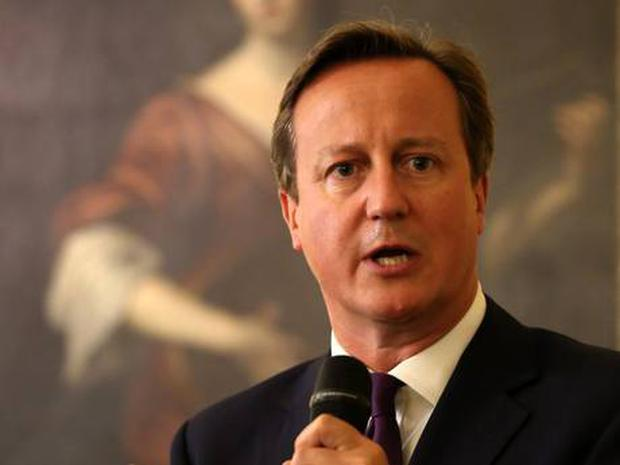 Cameron speaks at the Nato summit in Newport, Wales (PA)