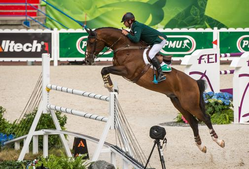 Denis Lynch on All Star 5 competing during the second round of the team competiton. Picture credit: Ray McManus / SPORTSFILE