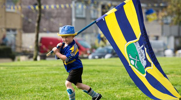 Patrick Kiely in Kennedy Park Roscrea County Tipperary in the run up to Sundays All-Ireland final agianst Tipperary and Kilkenny.