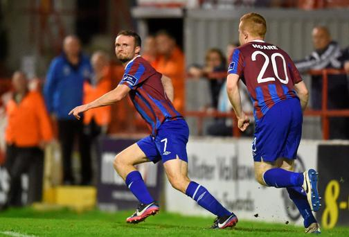 Conan Byrne knows tonights game against table toppers Dundalk is a must win if St Patrick's Athletic are to win back their league title. Barry Cregg / SPORTSFILE