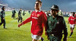 Manchester United and Eric Cantona were met by an intimidating atmosphere when they played Galatasary in 1993. However Steven Reid believes Ireland will thrive in such surroundings in Tbilisi. Photo by Tom Jenkins/Getty Images