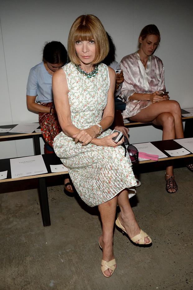 Editor-in-chief of American Vogue Anna Wintour