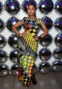 Nicki Minaj at the X Versus Versace after party. (Photo by Amy Sussman/Invision/AP)