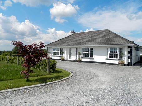 Modern bungalow on 34 acres at Killooley, Blueball, Co Offaly