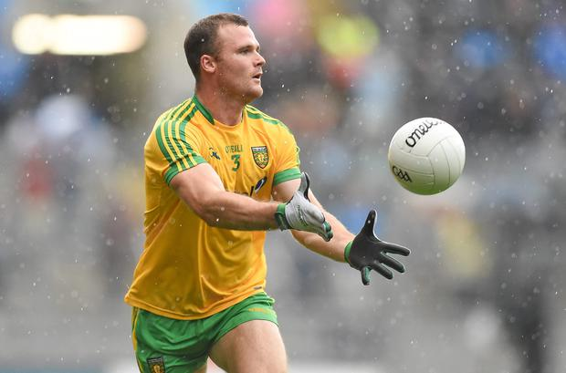Neil McGee, Donegal at the GAA Football All-Ireland Senior Championship, Quarter-Final, Donegal v Armagh, Croke Park, Dublin. At the weekend press event, full-back Niall McGee was promoting the benefits of going into camp prior to big games: