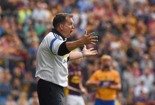 Clare manager Davy Fitzgerald has said he doesn't believe players are capable of turning out in both codes. Photo: Ray McManus / SPORTSFILE