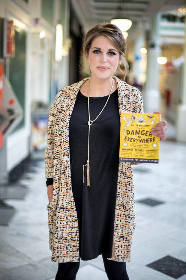 Amy Huberman earlier this evening, after it was revealed she is expecting her second child
