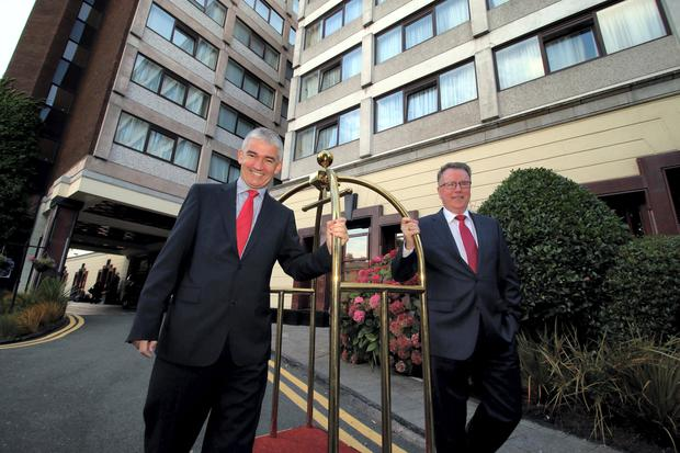 Dermot Crowley, Dalata's Deputy CEO with Pat McCann, CEO