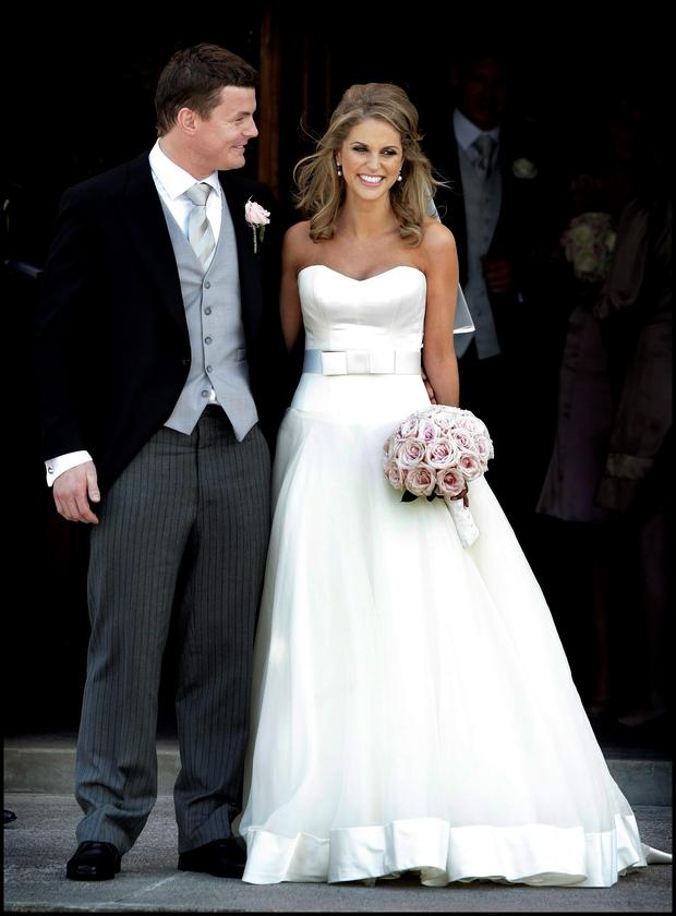 Brian O Driscoll and Amy Huberman on their wedding day