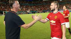 Louis van Gaal with Luke Shaw