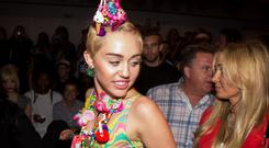 Miley Cyrus brings colour to New York Fashion Week. Reuters/Lucas Jackson
