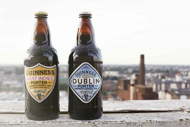 Guinness' new porters 'Dublin' and 'West Indies'