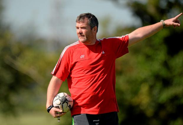 Anthony Foley gives instructions during training ahead of Munster's clash with Treviso