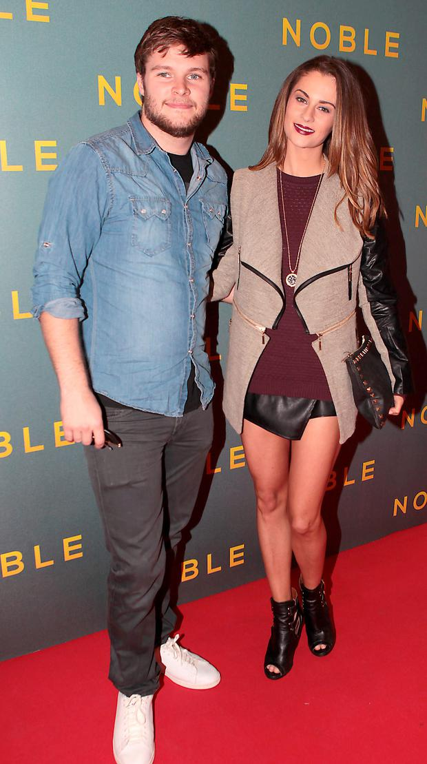 Jack Reynor and Madeline Mulqueen at The Irish Gala Screening of NOBLE at the Savoy Cinema on O'Connell Street, Dublin Pictures:Brian McEvoy