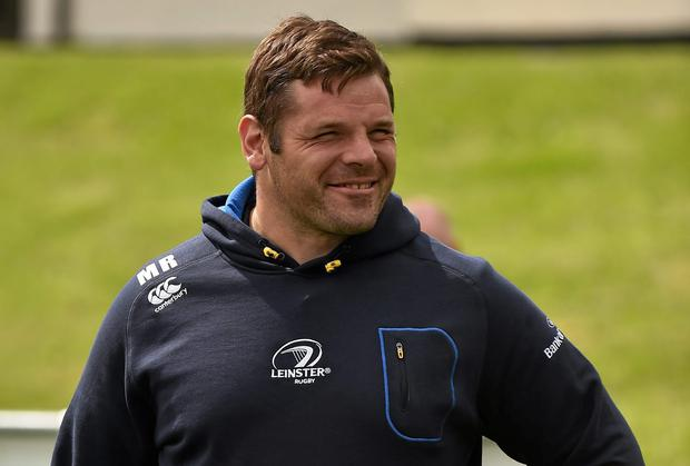 Leinster's Mike Ross during the Herald Leinster Rugby Summer Camps in De La Salle Palmerston RFC, Kilternan, Co. Dublin. Picture credit: Pat Murphy / SPORTSFILE