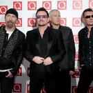 File photo dated 29/12/13 of (left to right) The Edge, Bono, Adam Clayton and Larry Mullen Jr of U2, who surprised fans last night by giving away their first new album for more than five years to people around the world. PRESS ASSOCIATION Photo. Issue date: Wednesday September 10, 2014. The band, who have been working on the release for many months, gave Songs Of Innocence to around half a billion iTunes music store users as well as subscribers to their website. See PA story SHOWBIZ U2. Photo credit should read: Yui Mok/PA Wire