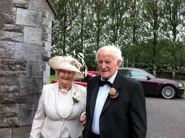 James and Margaret Hurley - the couple are married 74 years