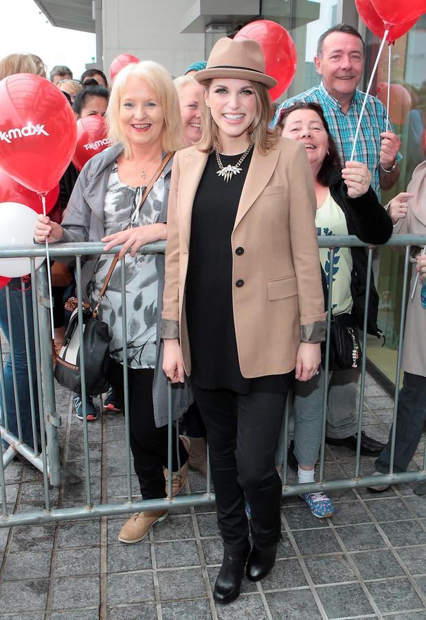 Award-winning Irish actress and author Amy Huberman officially opened the new TK Maxx store at Dundrum Town Centre this morning Picture: Brian McEvoy