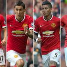 Summer signings: Daley Blind, Angel di Maria, Marcos Rojo and Radamel Falcao all recently moved to Old Trafford