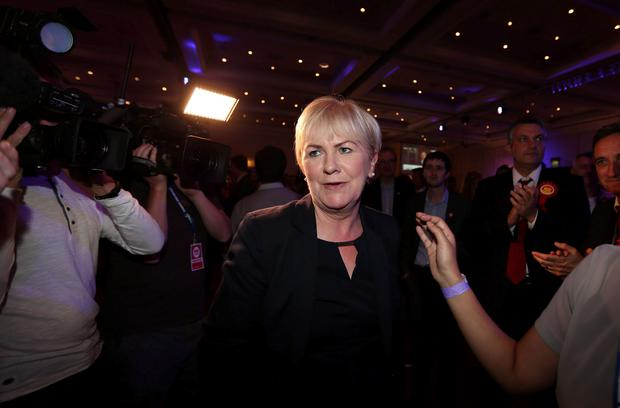 Leader of the Scottish Labour Party Johann Lamont at The Marriott Hotel in Glasgow as Scotland has rejected independence, despite the Yes campaign winning a majority in the largest city. PRESS ASSOCIATION Photo.