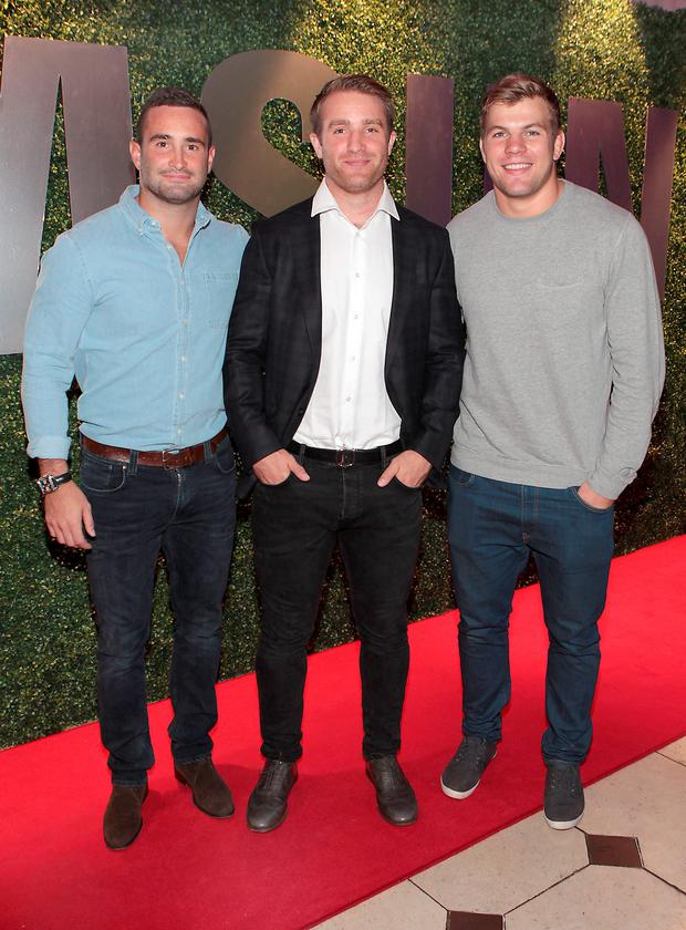 Rugby Players Dave Kearney, Luke Fitzgerald and Jordi Murphy at the exclusive launch of Samsung Galaxy Alpha