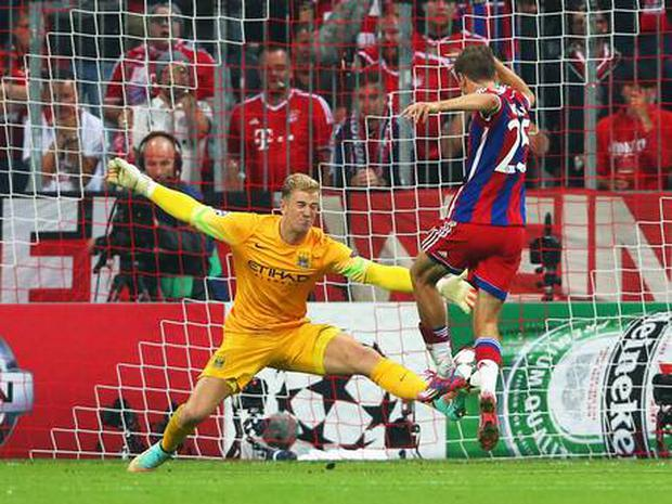 Joe Hart impressed against Bayern Munich