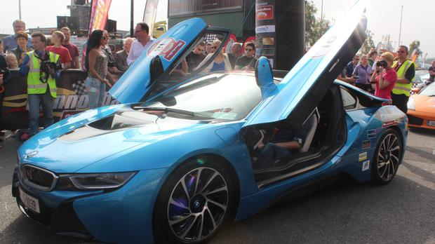 The BMW i8 is the first of it's kind in the country - an electric/hybrid supercar. The doors turned heads wherever the Cannonball went.