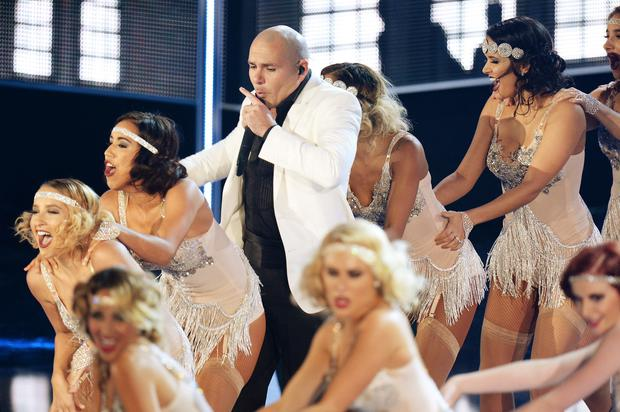 Pitbull performs onstage at Fashion Rocks 2014 - he features in two of our top 10