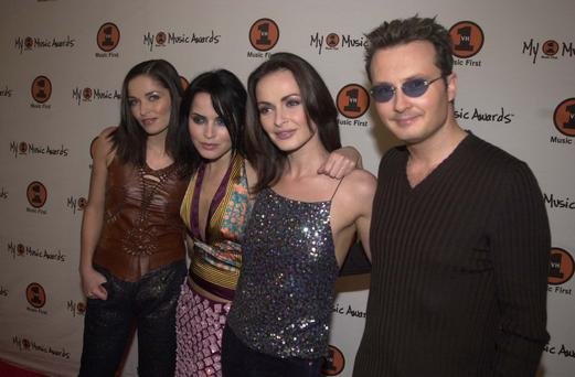 Caroline Corr, Andrea Corr, Sharon Corr and Jim Corr of The Corrs (Photo by Jeff Kravitz/FilmMagic, Inc)