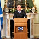 NOT A RESIGNING MATTER: Alex Salmond announced that he would quit as First Minister, after Scots voted No to independence. But his achievement was massive. Nationalism used to be a joke in Scotland. Its enemies aren't laughing any more. Photo credit: REUTERS/Scottish Government/Handout via Reuters