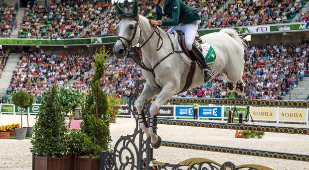 Bertram Allen took victory in a thrilling Longines FEI World Cup qualifying series contest in Bordeaux. Photo: Ray McManus / SPORTSFILE