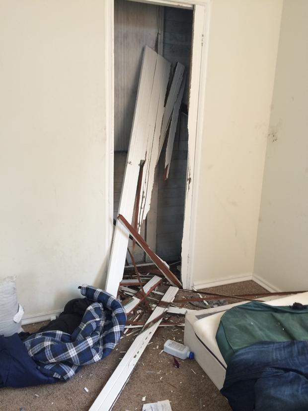 Damage caused to the rental home of Ritu Vohra in San Francisco, which she let to seven Irish J1 students over the summer