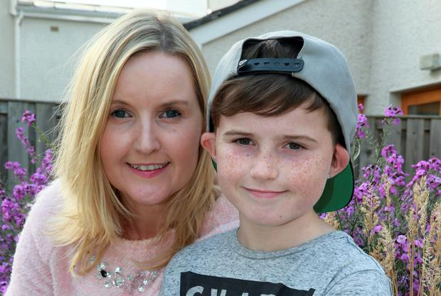 Ruth Cullen and her son Stephen at their home in Celbridge. Photo: Arthur Carron.