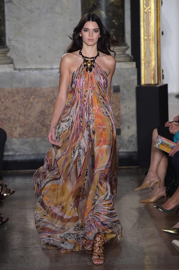 Model Kendall Jenner walks the runway during the Pucci - Show as part of Milan Fashion Week Womenswear Spring/Summer 2015