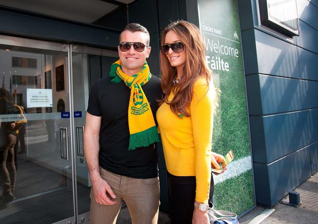 Shay Given & Rebbecca (Becky) Gibson at the All Ireland Football final between Kerry & Donegal at Croke Park, Dublin. Picture: Gareth Chaney/Collins