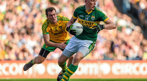 Kieran Donaghy's impact has transformed two championships for Kerry, eight years apart. They may not have won either without his intervention. Picture credit: Stephen McCarthy / SPORTSFILE