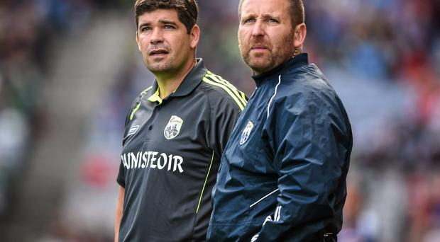 Cian O'Neill, right, was the first 'outside' selector on a Kingdom management team. Picture credit: Stephen McCarthy / SPORTSFILE