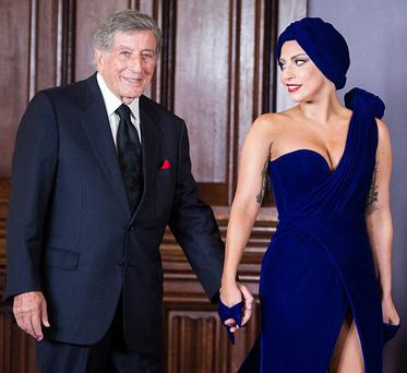 Lady Gaga and Tony Bennett in Brussels